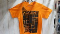 "~52%OFF~ AccentCollaboration ""Block Mosaic"" Tee[Orange/S]"
