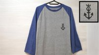 "Flourish ""Ikari"" Raglan Tee  [Grey & HeatherBlue / M , L , XL]"