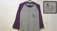 "Flourish ""Shishi"" Raglan Tee  [Grey & Heather Purple / M,L,XL]"