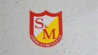"S&M ""Logo"" Sticker [S / Red]"