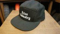 """AliveIndustry """"800"""" 5panel Cap [Black/Ajustable]"""