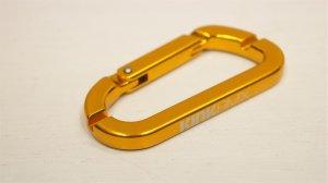 画像1: Kink Carabiner Spoke Wrench [3.2mm & 3.4mm /ニップルレンチ /Gold]